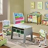 TOP-MAX Kinderregale Bücherregal Kinder Bücherschrank Stoff Buchen Aufbewahrung Regale Ständer mit 2 Spielzeug Aufbewahrungsbox für Kinderzimmer - 3