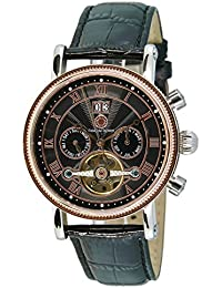 Constantin Durmont Herren-Armbanduhr XL Toledo Analog Automatik Leder CD-TOLE-AT-LT-STRG-BK