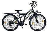 Delta 24 Zoll Mountainbike 18 Gang Shimano Vollgefedert Fahrrad mit Beleuchtung StVZO