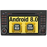 Pumpkin Android 8.0 Autoradio Radio für Mercedes-Benz A Klasse/B Klasse/Vito mit Navi Unterstützt Bluetooth DAB + USB CD DVD Android Auto WLAN 4G MicroSD 2 Din 7 Zoll Bildschirm (Autoradio)