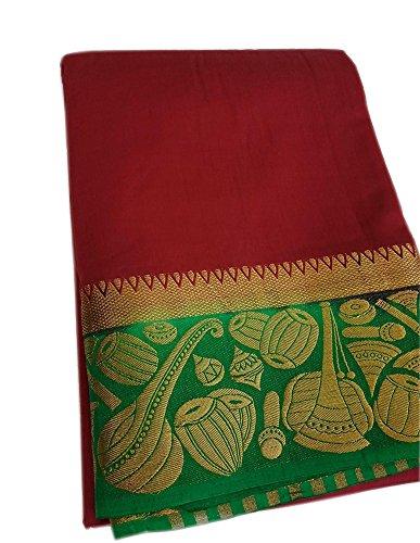 Nirja Creation Cotton Silk Saree With Blouse Piece (NC-OD-TABLA-6_Red_Free Size)