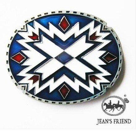 cinturon-de-hebilla-western-vintage-buckle-fun-hombre-fiesta-dorado-los-indios-americanos-azul-rojo-