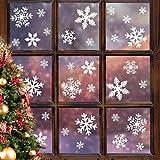 Noel Flocons Neige Stickers Blanc Vitres Decoration Noël Hiver Christmas Décoration Réutilisable PVC Sticker pour Noël Deco Fête Nouvel an - Joy.J
