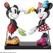 Enesco Disney by Romero Britto Mickey und Minnie Figur, Keramik, mehrfarbig, 14x 16x 17cm