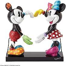 ENESCO Disney by Romero Britto Mickey und Minnie Figur, Keramik, Maße 14x 16x 17cm, Mehrfarbig