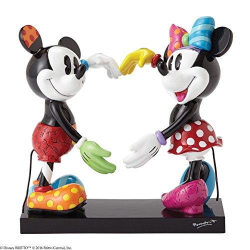 ENESCO Disney by Romero Britto Mickey und Minnie Figur, Keramik, Maße 14x 16x 17cm, Mehrfarbig (Disney Keramik)