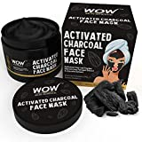 WOW Activated Charcoal Face Mask with PM 2.5 Anti-Pollution Shield No Parabens