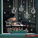 Markcur Fenster Aufkleber Weihnachten Glas tür Aufkleber Weihnachten Dekoratives Merry Christmas Weihnachtssticker Wandaufkleber
