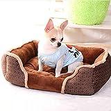 Wuwenw Morbido Pet Dog Bed House Warm Cat Casa Di Alta Qualità In Feltro Pp Cotton Dog Sofa Stuoia Staccabile Pet Prodotti Per Animali Domestici Per Cani Di Taglia Piccola 55X45X16Cm