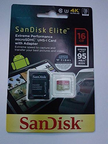 SanDisk 16GB Extreme Plus MicroSDXC Speicherkarte U3100MB/s v-klasse 30A1