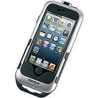 Cellularline SMIPHONE5SILVER Motocicleta - Soporte (Teléfono móvil/smartphone, Motocicleta, Soporte pasivo, Negro, Plata, Apple iPhone 5/5S, 360°)