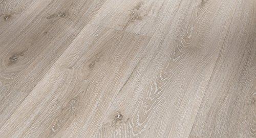 PARADOR Elastische Bodenbeläge Vinyl Basic 30 Eiche Grau geweißt Landhausdiele gebürstete Holzstruktur mit HDF-Trägerplatte - Paket a 1,83m²