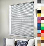 Aluminium Jalousie nach Maß, Wertarbeit, alle Größen und 28 Farben verfügbar, Maßanfertigung, für Fenster und Türen, Alu Jalousien, Decken und Wandmontage (Silber, Höhe: 160cm x Breite: 150cm)