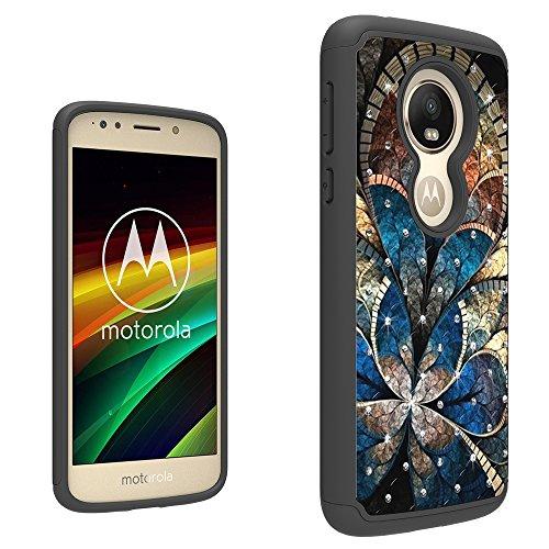 Moto E5Case, helianton [Drop Protection] [Dual Layer]