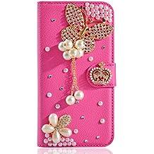 Meizu MX4 Pro Funda, Meizu MX4 Pro billetera Funda, Lifeturt [ mariposa de color rosa ] Cubierta de la caja de cuero superior de la carpeta del libro para Meizu MX4 Pro