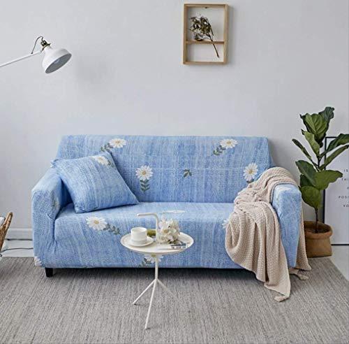 Dyb&home fodera per divano copridivano elasticizzato 1/2/3/4 posti, lavabile in lavatrice, tessuto protettivo jacquard stampa poliestere blu