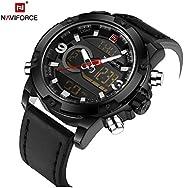 Naviforce Men's Black Dial NYLON Analogue Classic Watch - NF9097