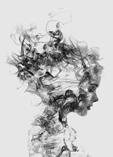 "JUNIQE® Leinwandbild 20x30cm Schwarz & Weiß Porträts - Design ""Dissolve Me"" (Format: Hoch) -..."