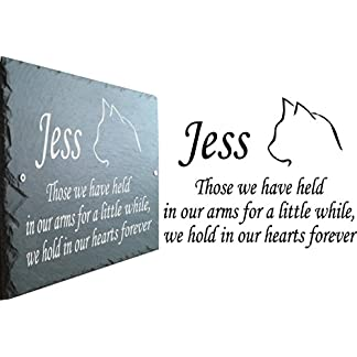 1st 4 Signs Beautiful Natural Slate Pet Cat Memorial 25cm x 18cm Traditional Rustic Finish (Stake not included) – To Purchase Click Customize Now Button 51k0vBQ97 2BL