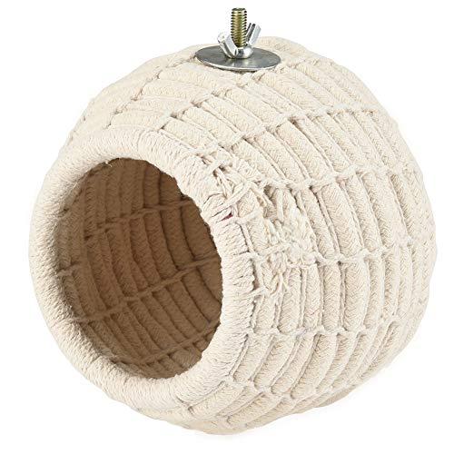 Furpaw Casa per Uccelli, Mangiatoia Uccelli per Casetta Uccellini Stazione, Nido Scatole Pappagalli Piccoli Animal Giardino Piccola Casetta Decorazione - Cotton Rope