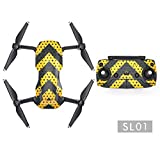 Hensych Waterproof Full Protective Stickers Decal Wrap Skin Cover Kit Camouflage Stripes Stickers for Mavic Air Done Body and Controller (SL01)