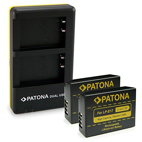 Galleria fotografica PATONA 2in1 Dual Caricabatteria con Micro USB + 2x Batteria LP-E17 per Canon EOS M3 750D 760D Rebel T6i T6s 8000D Kiss X8i