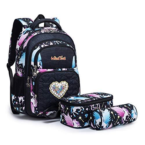 Wind Took Kinderrucksack Schulrucksack Schultasche Teenager Rucksack Backpack Mädchen Jungen Kinder Schultaschen-Sets mit Brotdose und Federmäppchen