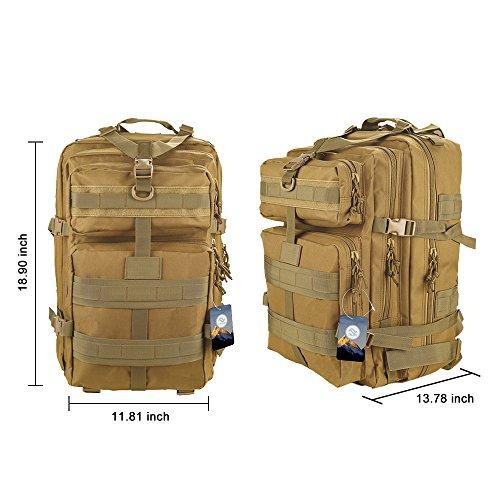 TTLIFE 45 L Trekkingrucksack Wasserdichte Outdoor Sports Trekkingrucksäcke-perfekte Wanderrucksäcke Sportrucksack Reisetaschen für Sport Liebhaber Khaki