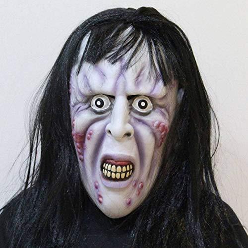 AIYA Halloween Ghost Festival Nachtclub Rave Party Perücke knallt Faule Hexenmaske (Faul Kostüm Lustig)