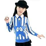 Moin Fashion Strickpullover Kinder Mädchen Wolle Streifenmuster Stern Aufdruck Verdickung 6 Farben Pullover Sweatshirt Oberteil