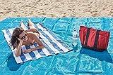 ALFIO SHOP Telo Mare ANTISABBIA 150X200 Perfetto per la Spiaggia, PIC-nic, Campeggio, attività all'aperto Colori Vari
