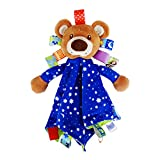 INCHANT Baby Große Plüsch Schmusedecke mit Bär Stofftier Stofftier Teddy