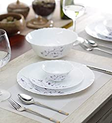 LaOpala Diva Dazzle Dinner Set, 19-Pieces, White/Purple