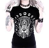 ReStyle Clothing Trippin'Wednesday T-Shirt Noir à Manches Courtes Pour Femmes (38)