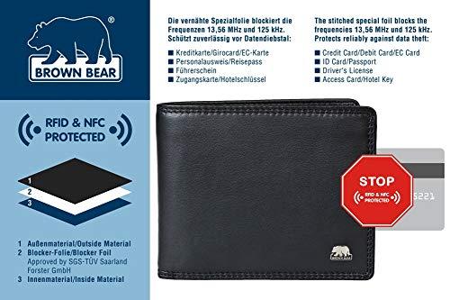 Brown Bear Geldbörse Herren Leder schwarz 8005 D bk - 4