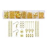 Qi Xiang Eine Set Jewelry Making Findings Kit mit offener Jump Ringe, Karabinerverschlüsse, Ohrring...