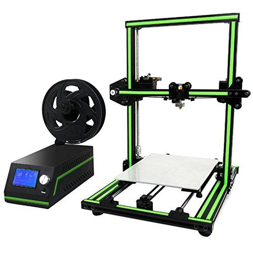 ANET E10 3D Imprimante LCD Affichage Professionnel Haute Précision En Alliage D'aluminium Cadre Grande Taille D'impression DIY 3D Imprimante Kit