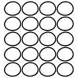 sourcing map 20pz colore nero 30mm diametro esterno di 2 mm di spessore anello di tenuta a forma O occhiello in gomma