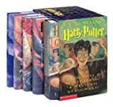 Harry Potter Hardcover Box Set with Leather Bookmark (Books 1-5) by J. K. Rowling (2003-10-15)