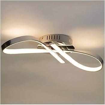 Lustre Plafonnier LED design ruban infini chrome - Acht - EN SOLDES ...