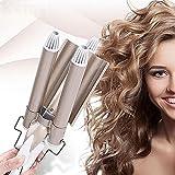 Hair Curler Cheveux Fer À Friser Céramique Triple Tonneau Cheveux Bigoudi Fers Cheveux Vague Waver Styling Outils Cheveux Styler Baguette
