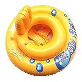 Hunpta@ Anneau de natation, My Baby Float Bouée de natation piscine Infant Chaise Lounge avec dossier, jaune