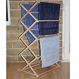JVL Wäscheständer, Holz, zusammenklappbar