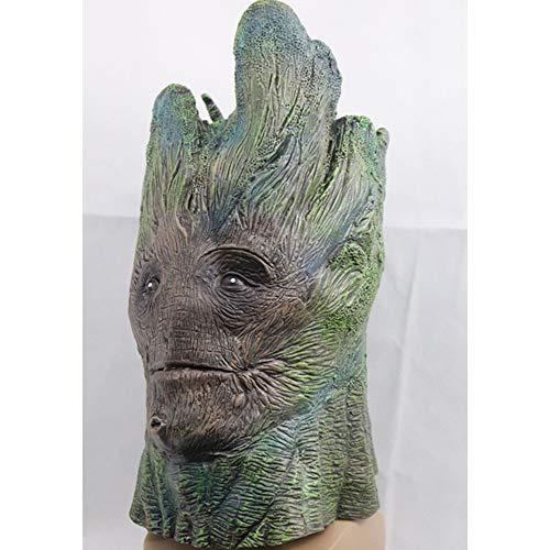 onos Máscara de Halloween Noche Rey Cara Noche Máscara de látex Adultos Cosplay Trono Disfraz Máscara de fiesta ()