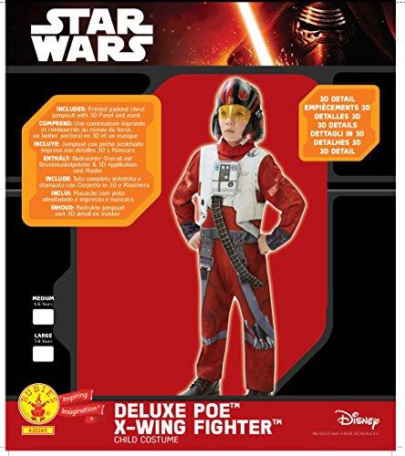 Imagen de star wars  disfraz de xwing fighter, episode 7, deluxe, para niños rubie's 620265 m  alternativa