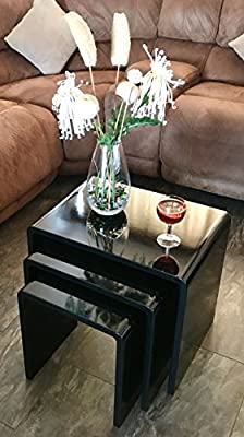 Nest of 3 Coffee Tables - low-cost UK light store.