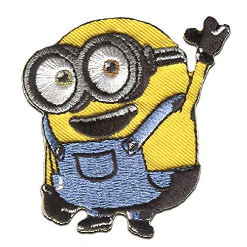 Aufnäher/Bügelbild - Minions Ich - Einfach unverbesserlich 'Bob Hallo!' - gelb - 6,5x6cm - Patch Aufbügler Applikationen zum aufbügeln Applikation Patches Flicken Bob Patch