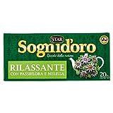 Sogni d'Oro Tisana Rilassante con Passiflora, Camomilla, Melissa e Biancospino - 20 Filtri
