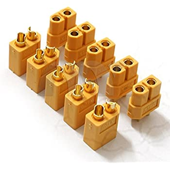 FACILLA® 10 Paires XT60 Connecteur Prise Balle Mâle Femelle Pour RC Batterie Jouet