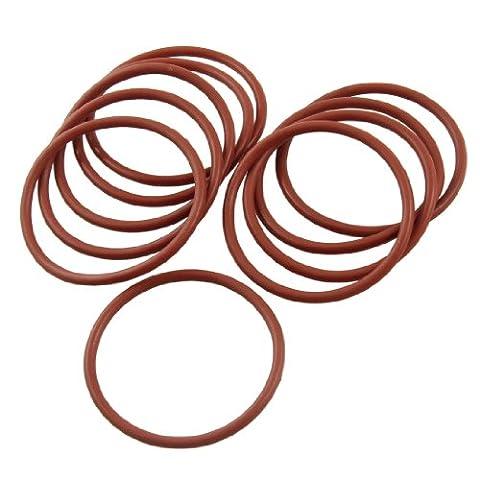 Lot de 10industriel en silicone O Ring Joint d'étanchéité Rondelle 51mm x 58mm x 3.5mm